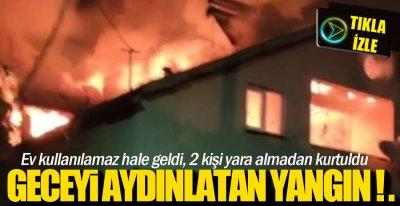 2 KİŞİ SON ANDA KURTULDU !.