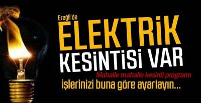6 MAHALLEDE ELEKTRİK KESİNTİ VAR !.