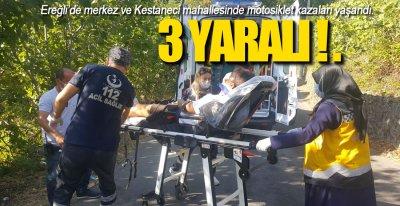 BİR GÜNDE 2 MOTOSİKLET KAZASI !.