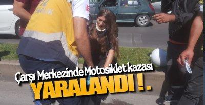 ÇARŞI MERKEZİNDE KAZA !.