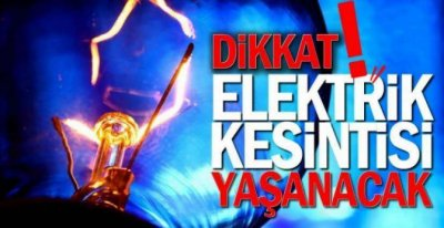 DİKKAT KESİNTİ 13.00'DE BAŞLIYOR !.