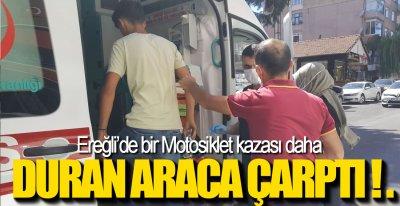 DURAN ARACA ÇARPTI !.