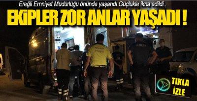 EMNİYET ÖNÜNDE DİRENİŞ !.