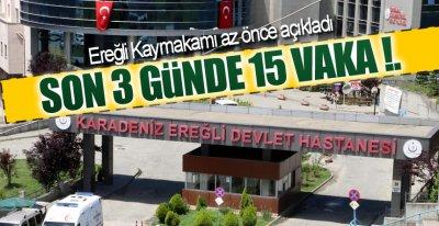 EREĞLİ'DE 130 KİŞİ TEDAVİ GÖRÜYOR !.