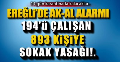 EREĞLİ'DE AK-AL ALARMI !.
