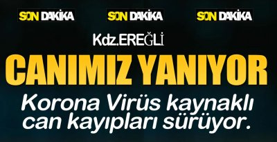 EREĞLİ'DE CAN KAYIPLARI SÜRÜYOR !.