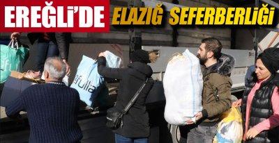 EREĞLİ'DE ELAZIĞ SEFERBERLİĞİ