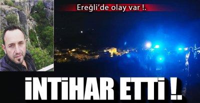 EREĞLİ'DE İNTİHAR !.