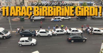 EREĞLi'DE ZİNCİRLEME KAZA !.