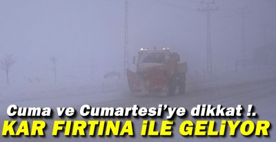FIRTINA İLE BİRLİKTE GELİYOR !.