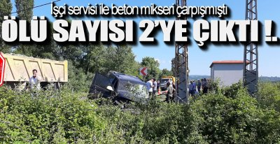 MİKSER ŞOFÖRÜ HAYATINI KAYBETTİ !.