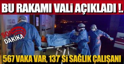 """VALİ """"SAĞLIKÇILARIMIZ KENDİNİ KORUYAMADI"""""""