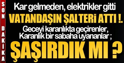 VATANDAŞIN ŞALTERİ ATTI !.