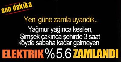 YENİ GÜN ZAMLA BAŞLADI !.