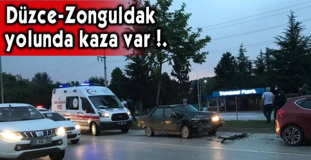 1 KİŞİ YARALANDI !.
