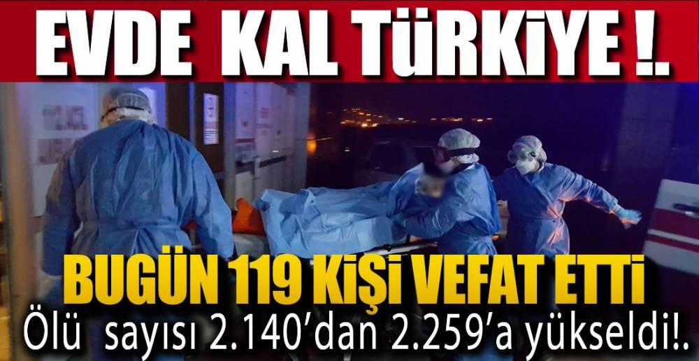 119 KİŞİ VEFAT ETTİ, 1488 KİŞİ ŞİFA BULDU !.