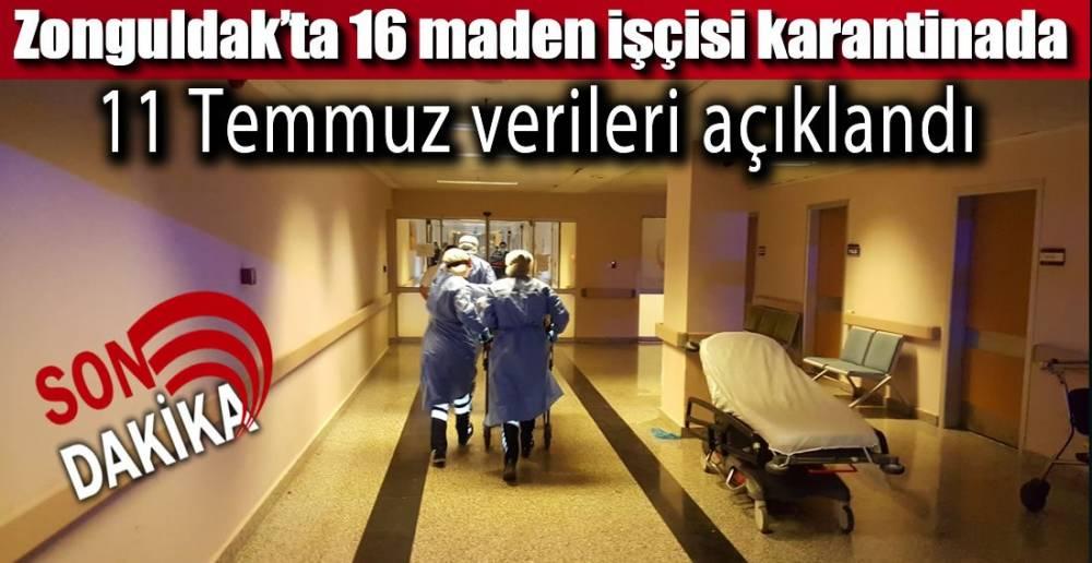 3 VAKA 16 MADENCİ KARANTİNADA!.