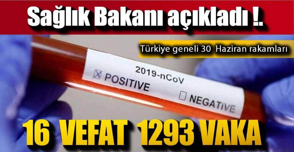 30 HAZİRAN VERİLERİ !.