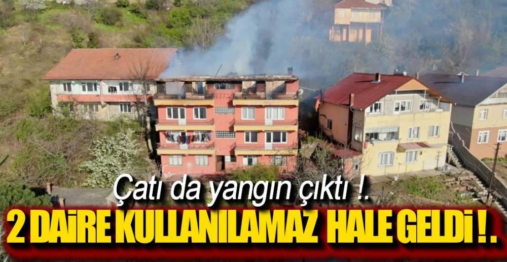4 KATLI BİNADA YANGIN !.