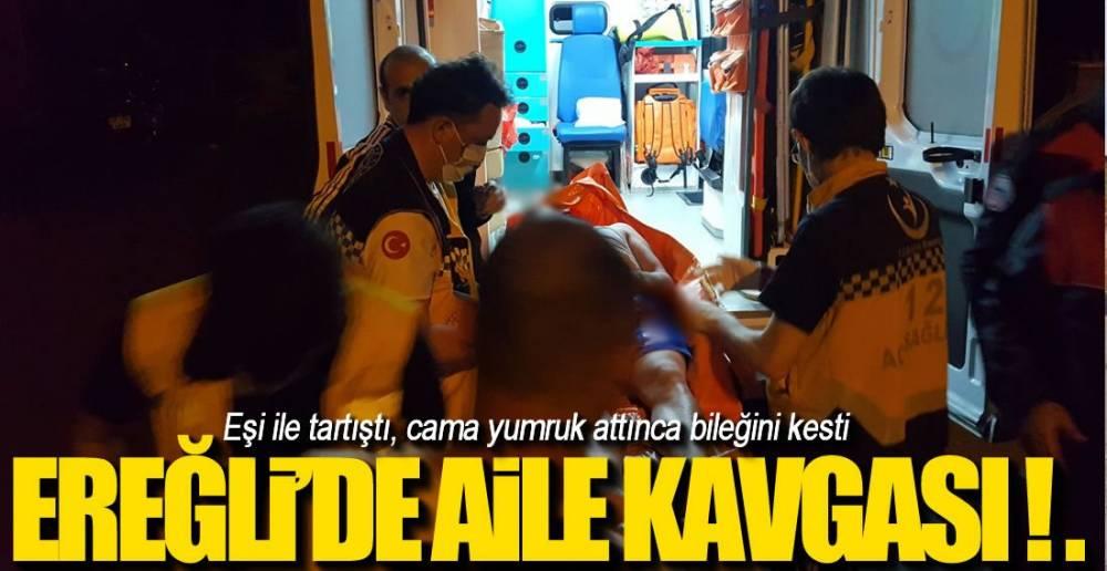 AİLE KAVGASINDA KAN AKTI!.