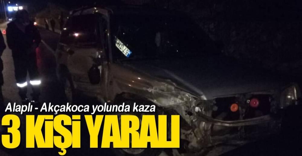 ALAPLI -AKÇAKOCA YOLUNDA KAZA !.