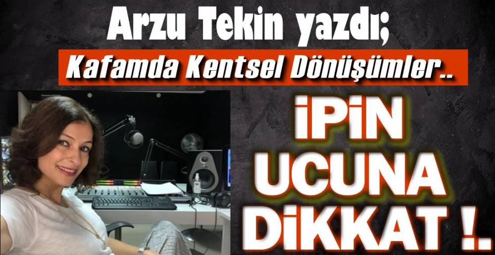 ARZU TEKİN 'İN YENİ KÖŞE YAZISI !.