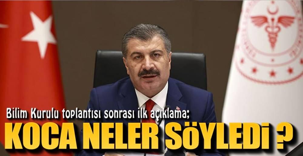 BAKAN YENİ KARARLAR İÇİN SİNYALİ VERDİ !.