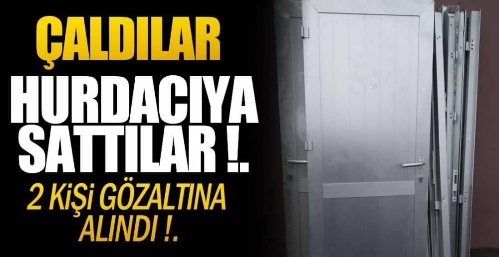 BAKIR TEPSİ ,MUSLUK BATARYASI ÇALDILAR !.