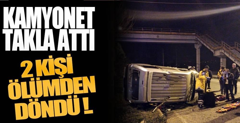 BARİYERLERE ÇARPTI, TAKLA ATTI!.