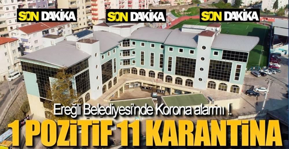 BELEDİYEDE POZİTİF VAKA !.