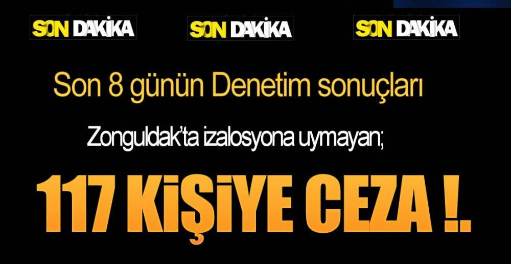 BİR HAFTADA 117 KİŞİ !.