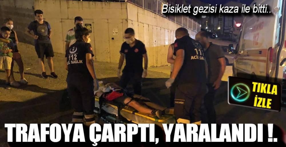 BİSİKLET GEZİSİ KAZA İLE BİTTİ !.