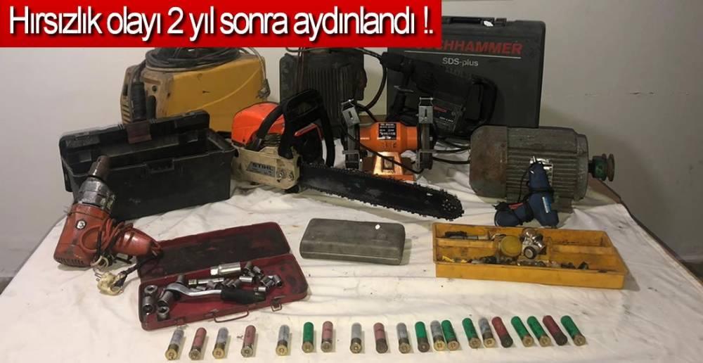 ÇALINAN MALZEMELER SAHİBİNE TESLİM EDİLDİ !.