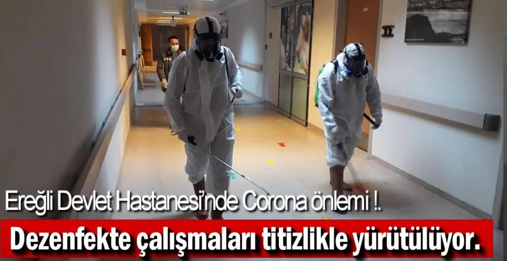 DEVLET HASTANESİ'NDE CORONA TEDBİRLERİ !.