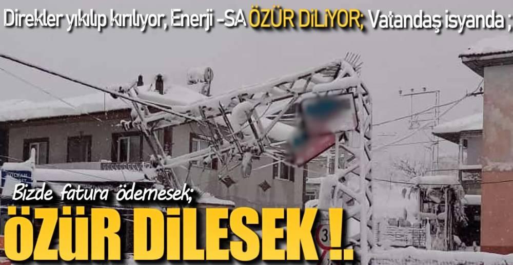 DİREK YIKILDI !.