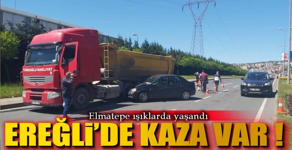 ELMATEPE IŞIKLARDA KAZA !.