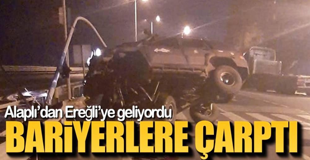EREĞLİ-ALAPLI YOLUNDA KAZA !.