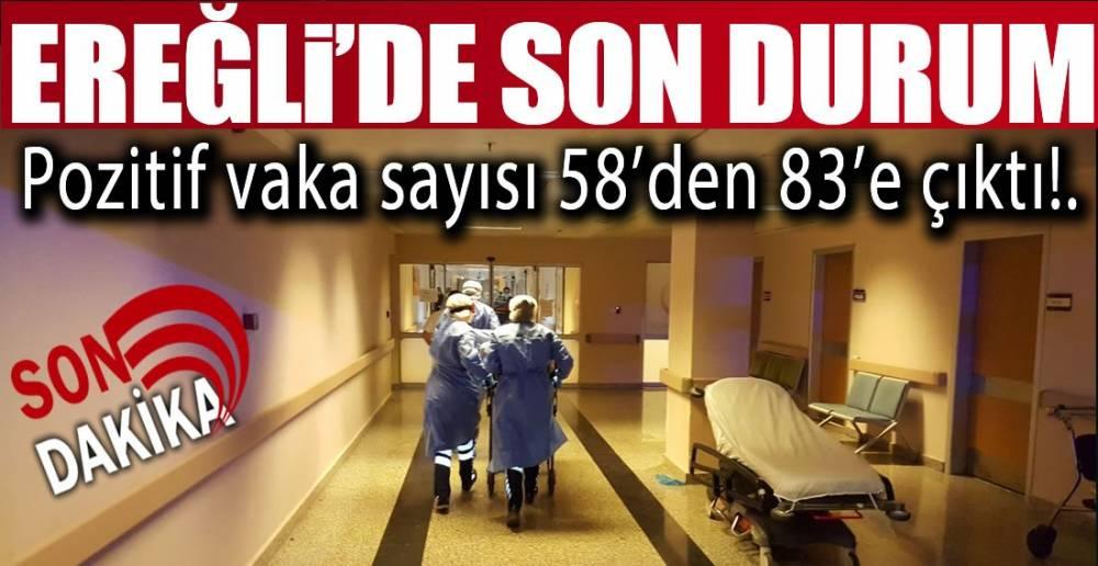 EREĞLİ'DE 25 YENİ VAKA !.