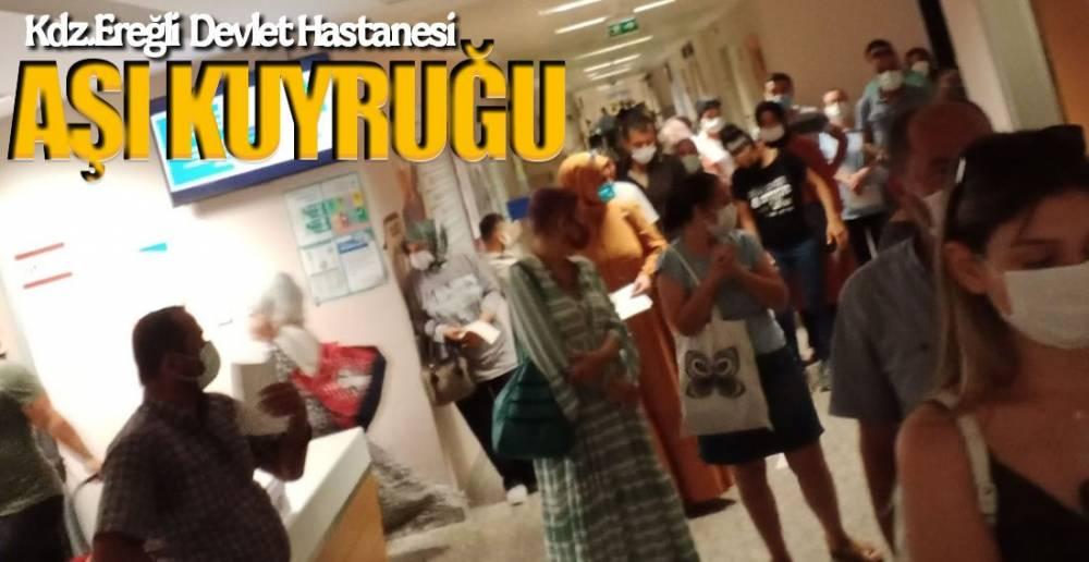 EREĞLİ'DE AŞI KUYRUĞU !.