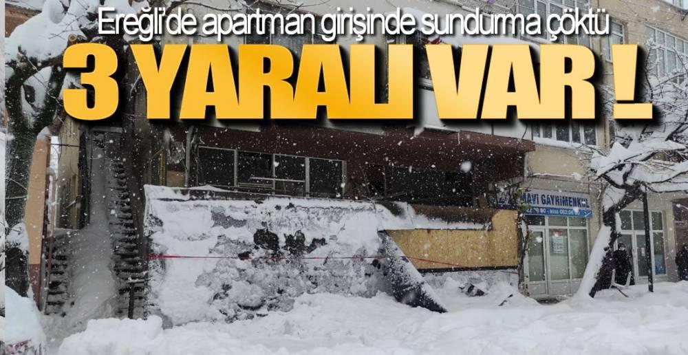 EREĞLİ'DE FACİADAN DÖNÜLDÜ !.