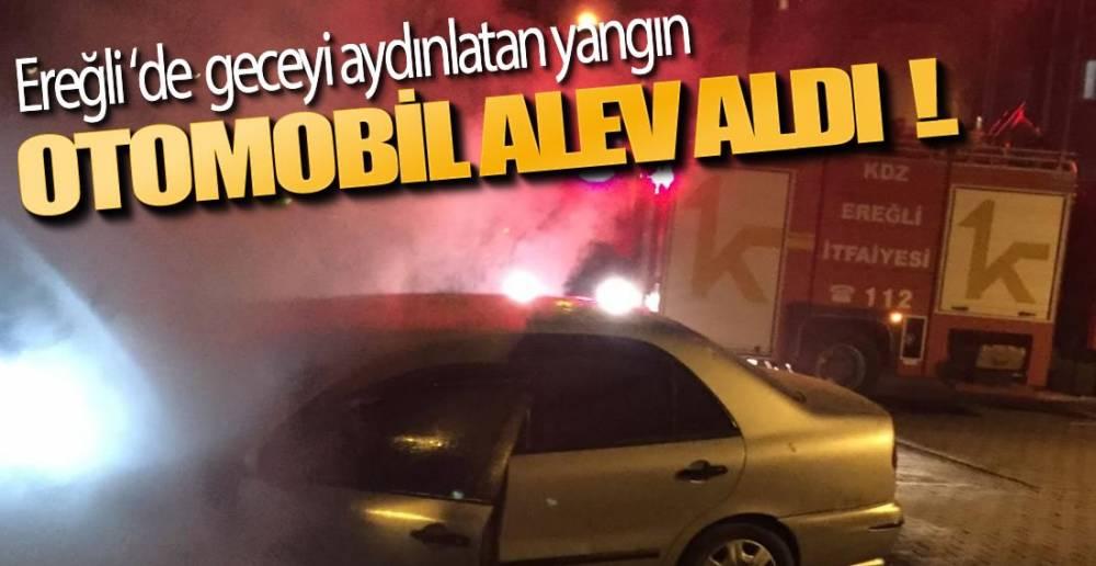 EREĞLİ'DE GECEYİ AYDINLATAN YANGIN !.
