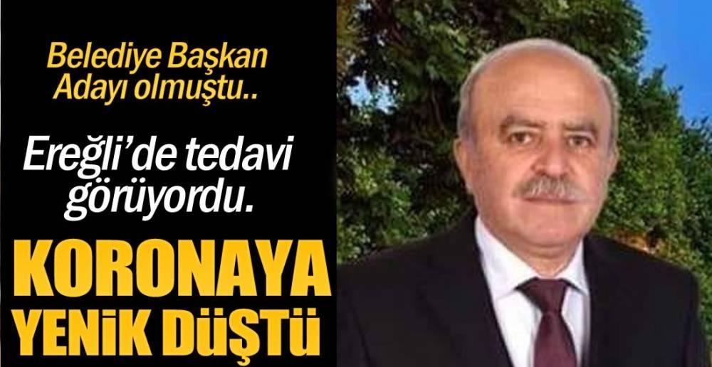 EREĞLİ'DE HAYATINI KAYBETTİ !.