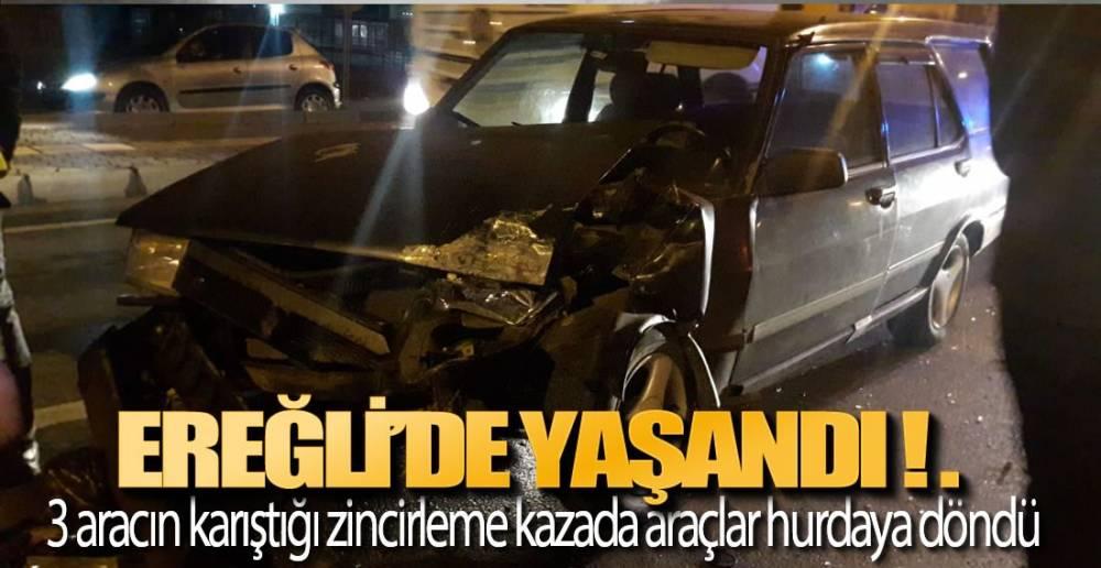 EREĞLİ'DE KAZA!.  İLK GÖRÜNTÜLER