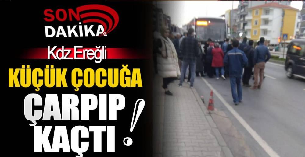 EREĞLİ'DE KAZA; SÜRÜCÜ ARANIYOR !.