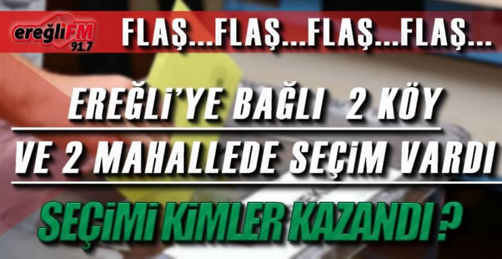EREĞLi'DE SANDIK SONUÇLARI !.