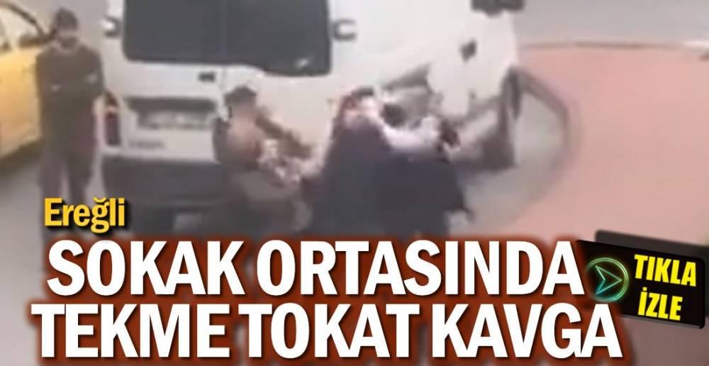 EREĞLİ'DE TEKME TOKAT KAVGA !.