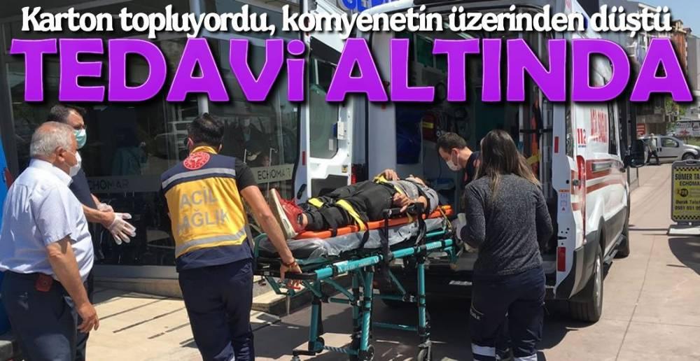 KAMYONETİN ÜZERİNDEN DÜŞTÜ !.