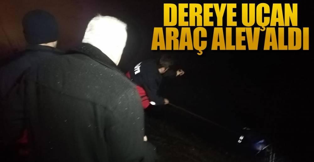 EREĞLİ'DEN ARAÇ SATIN ALDI,ZONGULDAK'TA KAZA YAPTI !.