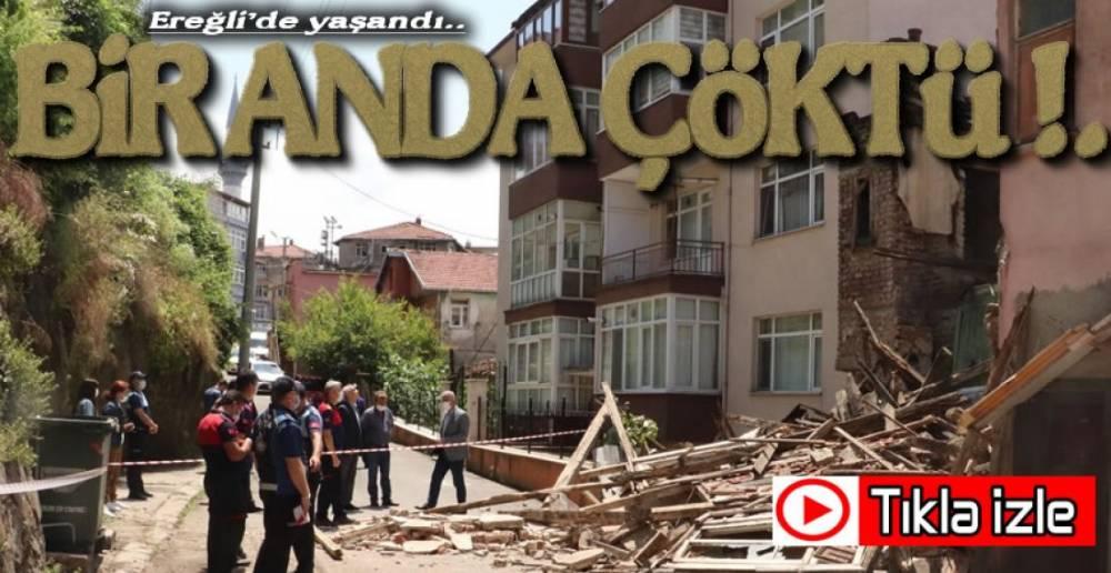 EREĞLİ'DE BİNA ÇÖKTÜ !.