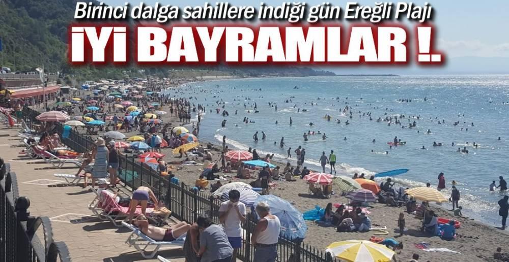 EREĞLİ PLAJINDA BAYRAM HAVASI !.